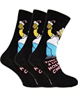 Les Simpsons - Chaussettes fantaisie Homer Simpson (3 paires) - Homme