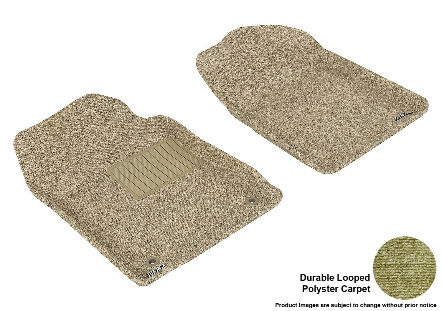 Classic Carpet Tan 3D MAXpider Front Row Custom Fit Floor Mat for Select Toyota Avalon Models L1TY05512202