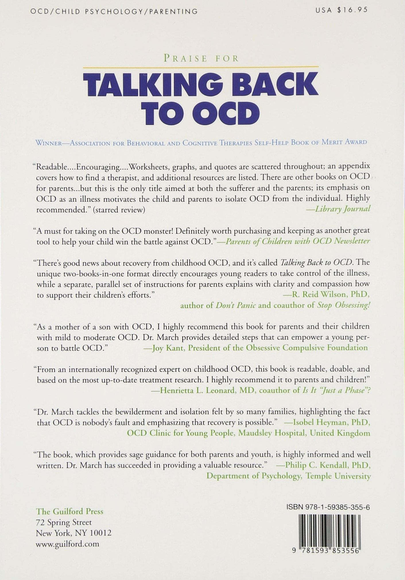 worksheet Ocd Worksheets talking back to ocd the program that helps kids and teens say no way parents go john s march christine
