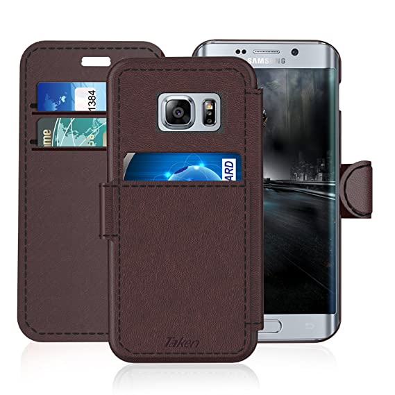 amazon com samsung galaxy s 6 edge s6 edge leather wallet case with