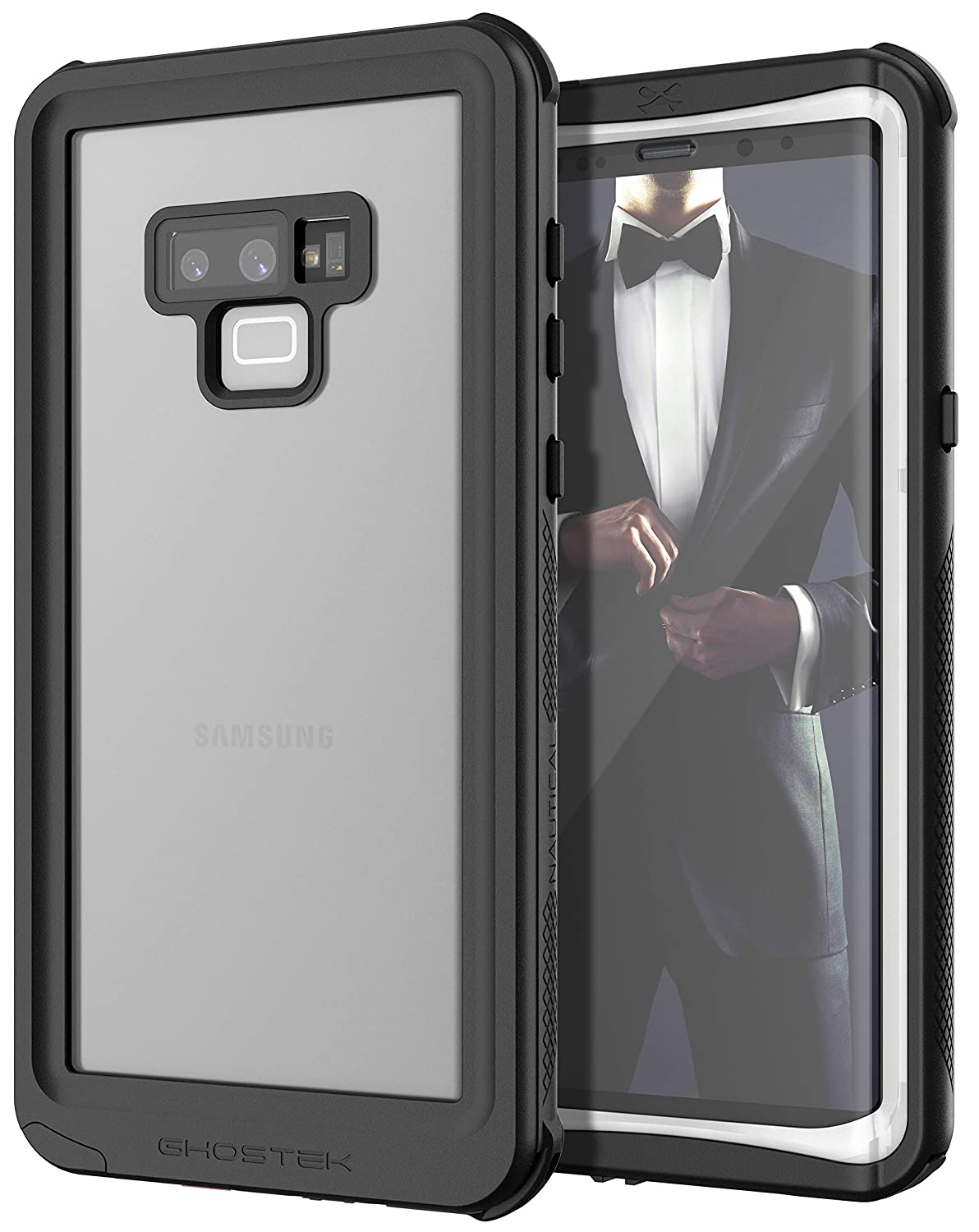 bc632ca26 Amazon.com: Ghostek Nautical Full Body Waterproof Case Cover Designed for Galaxy  Note 9 - White: Cell Phones & Accessories