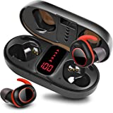 pendali Wireless Earbuds Bluetooth 5.1, IPX7 Waterproof Earbuds TWS Stereo Headphones with Portable Charging Case, LED Batter