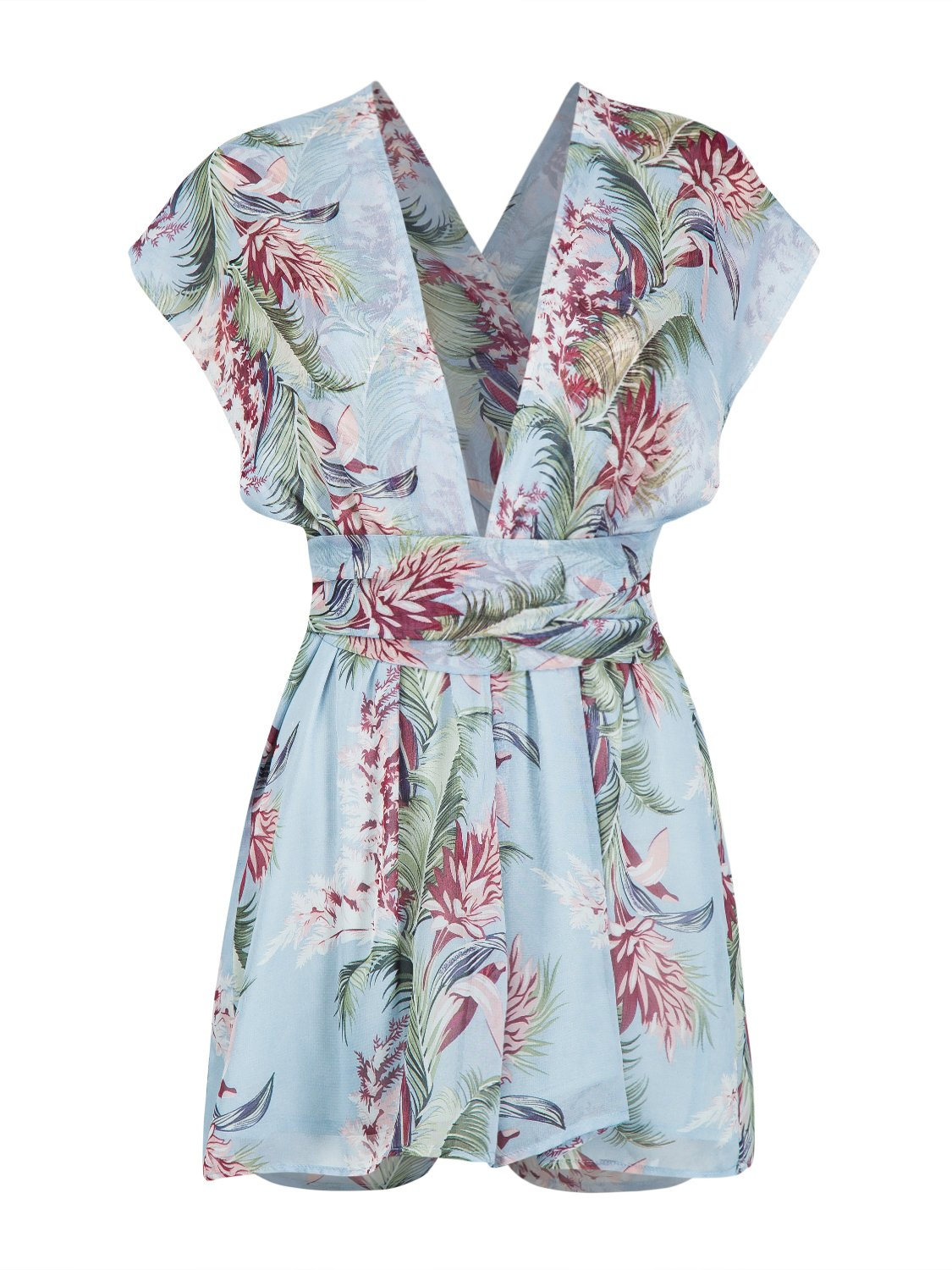 CHOiES record your inspired fashion Choies Women's Multi-Way Rompers Playsuit Summer Beach Floral Short Jumpsuit M