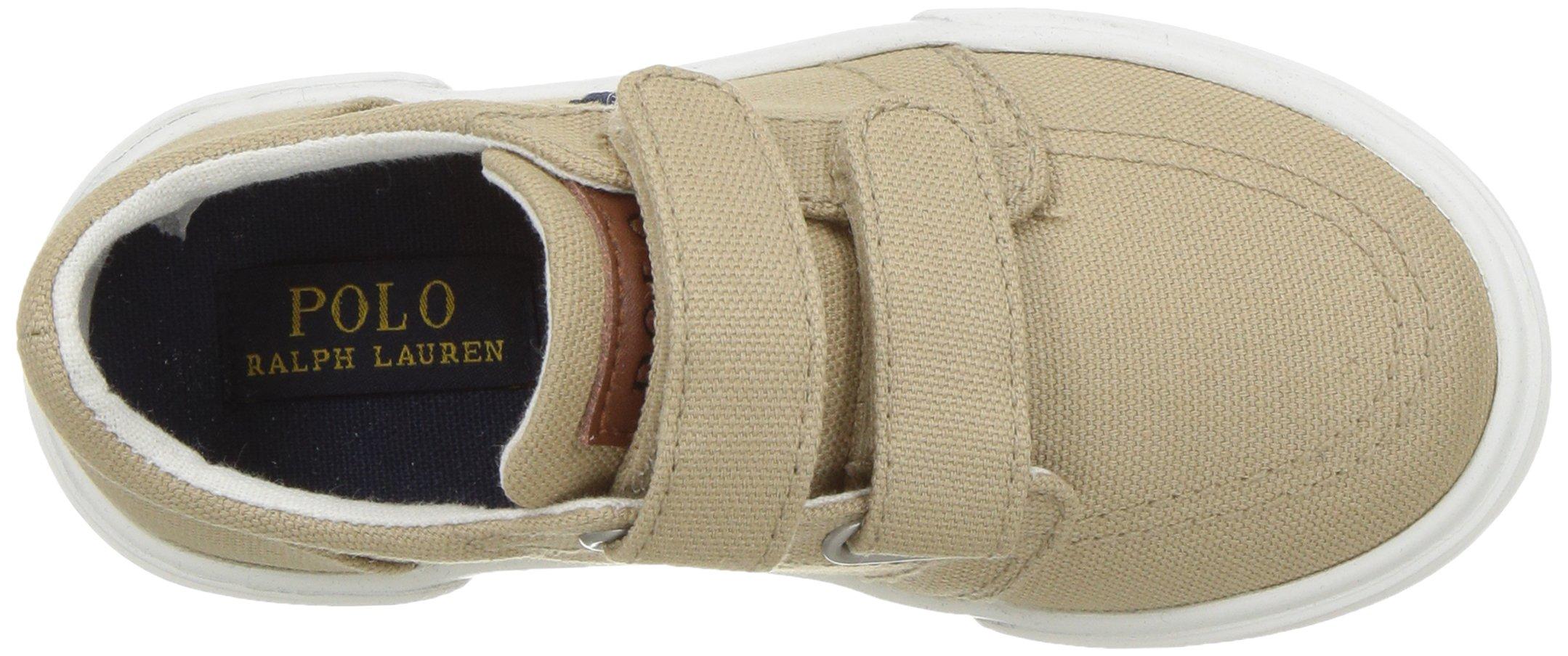 Polo Ralph Lauren Kids Boys' Faxon II Sneaker, Khaki Cotton, 10 M US Toddler by Polo Ralph Lauren (Image #8)