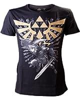 Nintendo - Zelda Gold Logo Homme T-Shirt - Noir