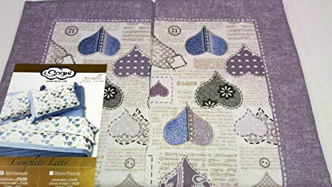 Completo lenzuola letto matrimoniale misura maxi cotone linea i