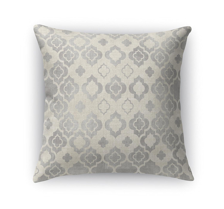 TELAVC1474DI18 KAVKA Designs Taranto Accent Pillow, Grey//Ivory Size: 18X18X6 - - Encompass Collection