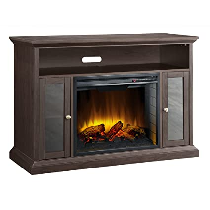 Amazon Com Pleasant Hearth 23 Inch Riley Espresso Media Electric