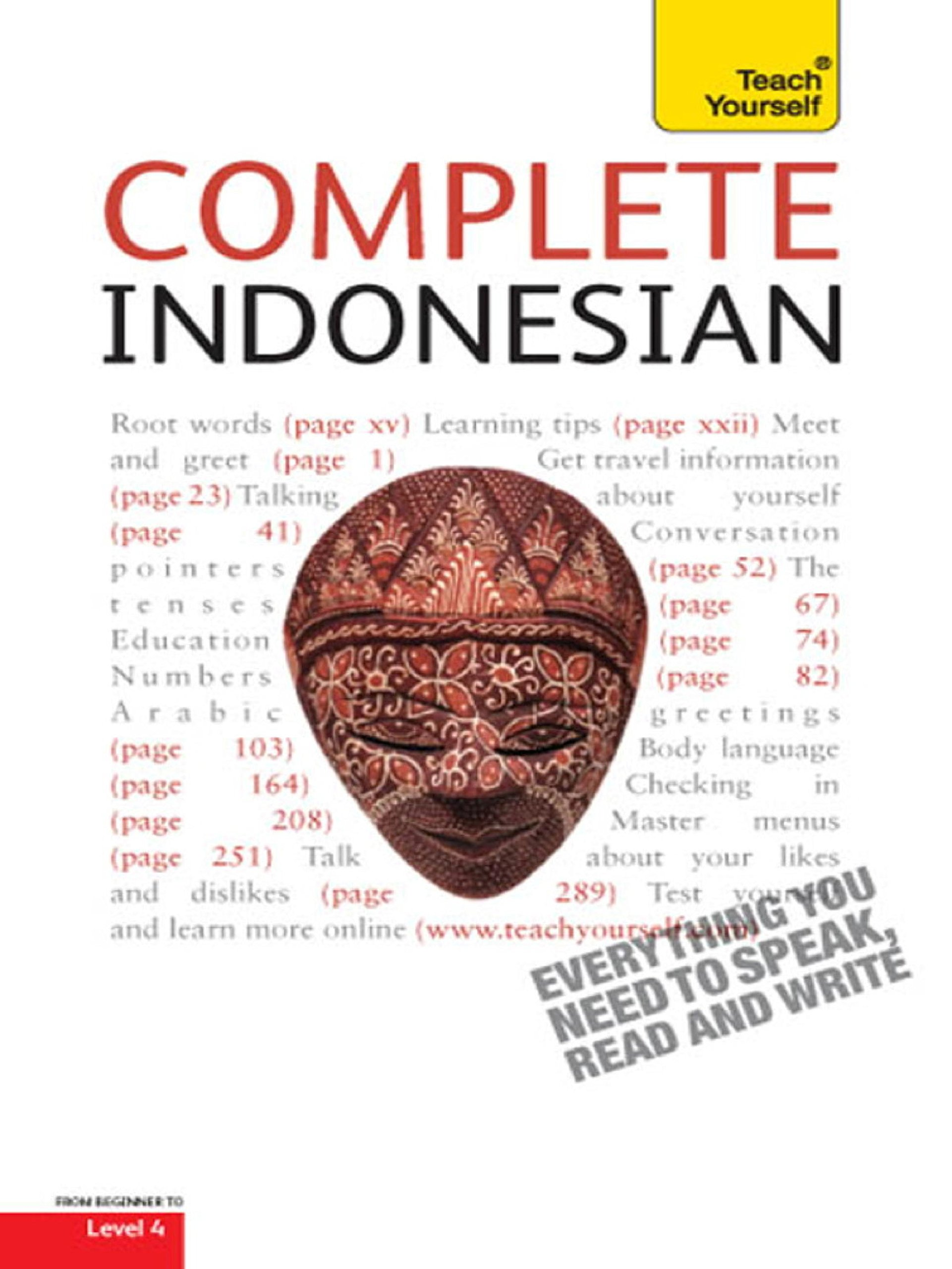 Complete Indonesian Beginner To Intermediate Course  Learn To Read Write Speak And Understad A New Language With Teach Yourself  Complete Languages   English Edition