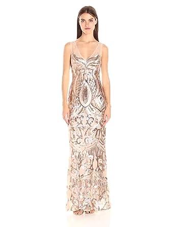 13578c0c Adrianna Papell Women's Sleeveless Sequin Beaded Gown at Amazon ...