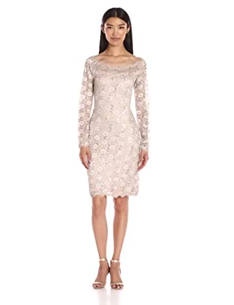 cb5b6b0fb022 Amazon.com: ONYX Nite Women's Short Daisy Lace Sheath: Clothing