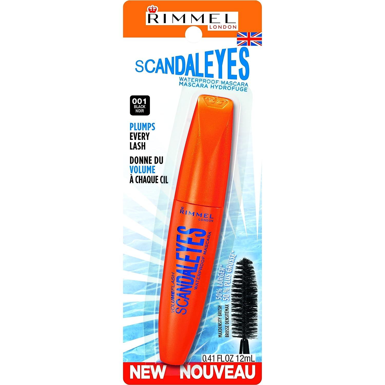 35e81c8c72a Amazon.com: Rimmel Scandaleyes Waterproof Mascara, Black, 0.41 Fluid ...