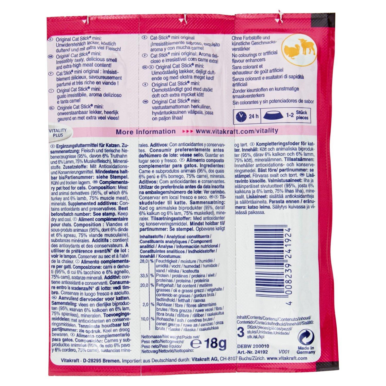 Amazon.com : Vitakraft Cat Treat Stick Mini (Flavour: Turkey & Lamb) : Pet Supplies