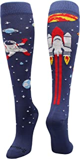 product image for MadSportsStuff Astronaut in Space Socks Athletic Over The Calf Length