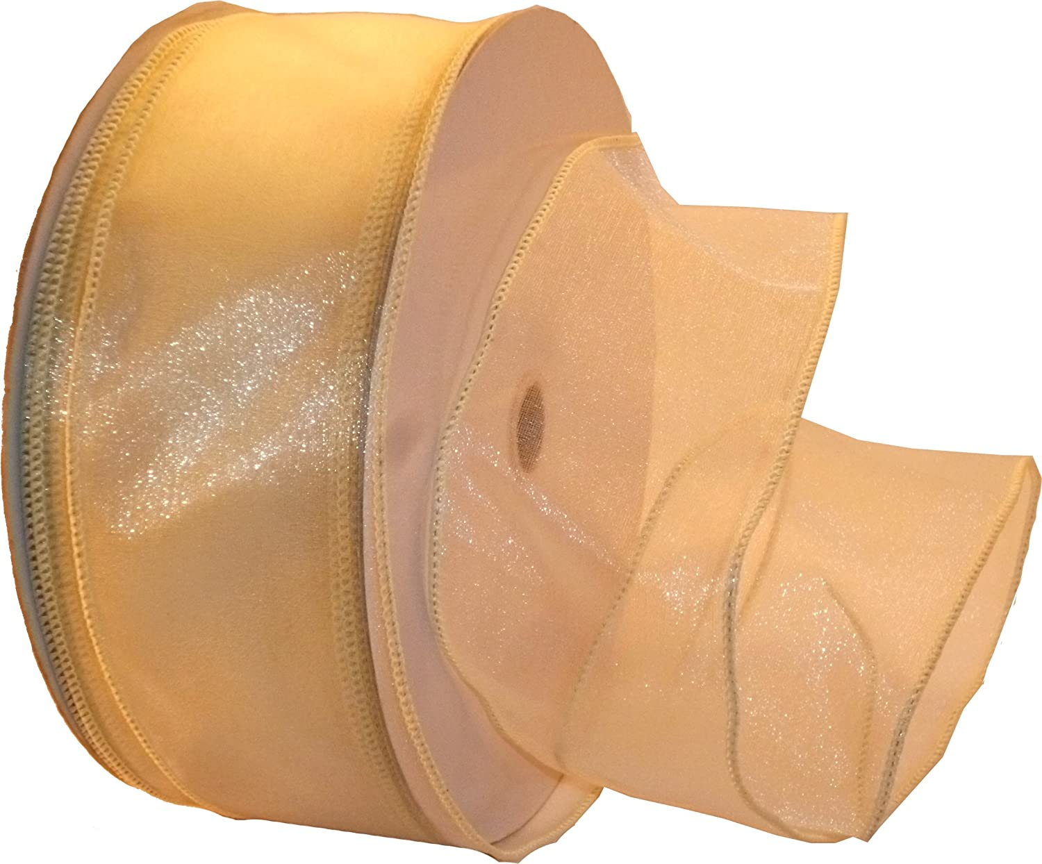 Reliant Ribbon 99908W-810-09K Sheer Lovely Value Wired Edge Ribbon 1-1//2 Inch X 50 Yards Ivory