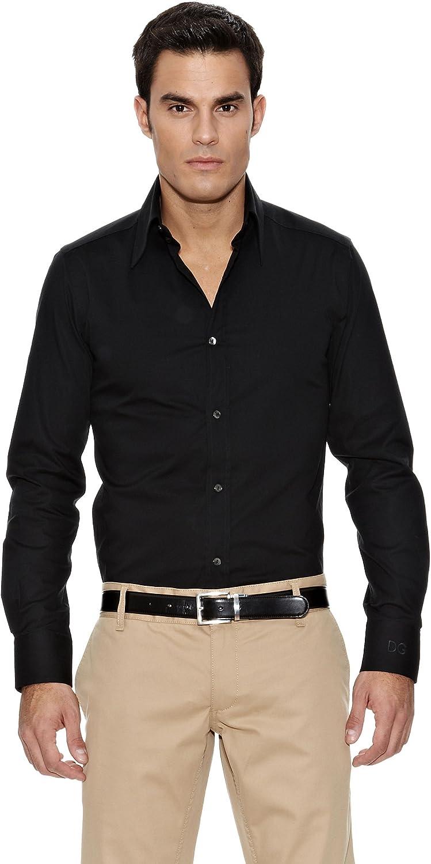 Dolce & Gabbana Camisa Vestir Negro 39: Amazon.es: Ropa y accesorios