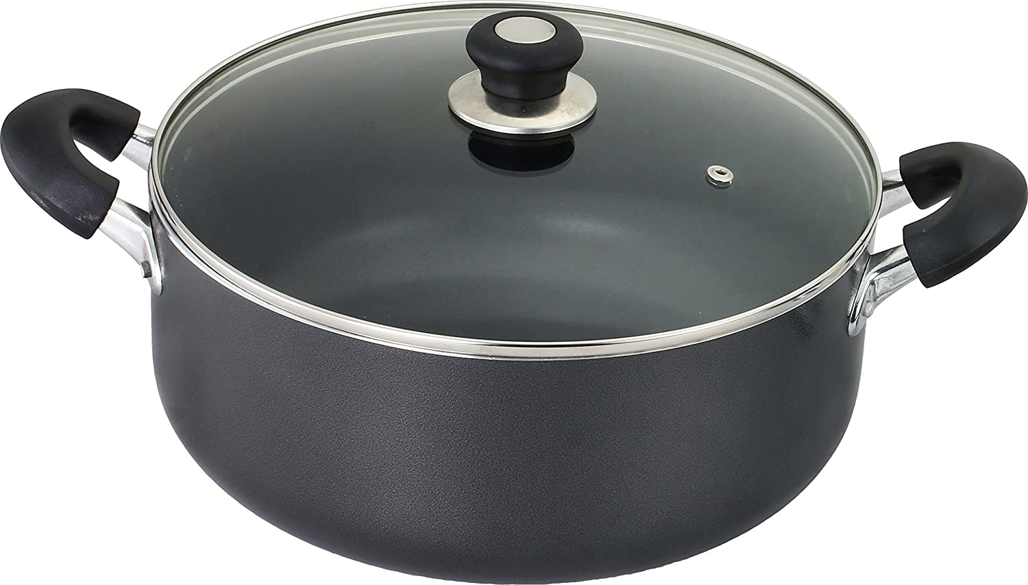 Kitchen Sense 936 Glass Sauce pot with Lid thickness 3.0mm Grey