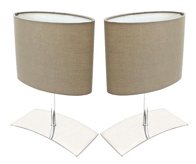 Trango Paquete de 2 Lámpara de mesa de diseño Lámpara de ...