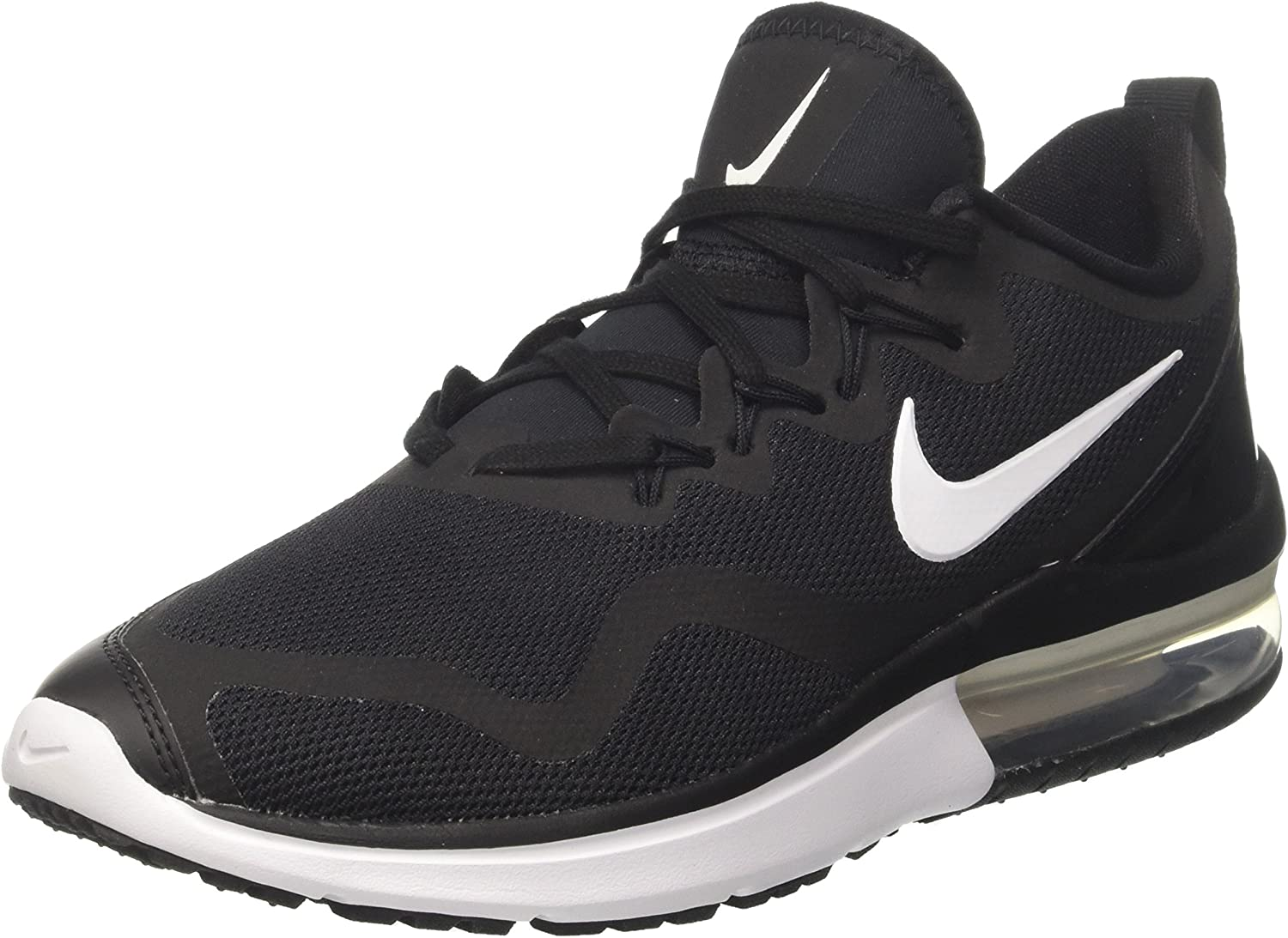 Nike Air Max Fury Womens Running Trainers AA5740 Sneakers Shoes UK 4.5 US 7 EU 38, Black White Black 001