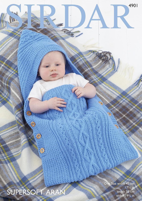 fb915cfd94fe Sirdar Supersoft Aran Knitting Pattern - 4901 Baby s Sleeping Bag ...