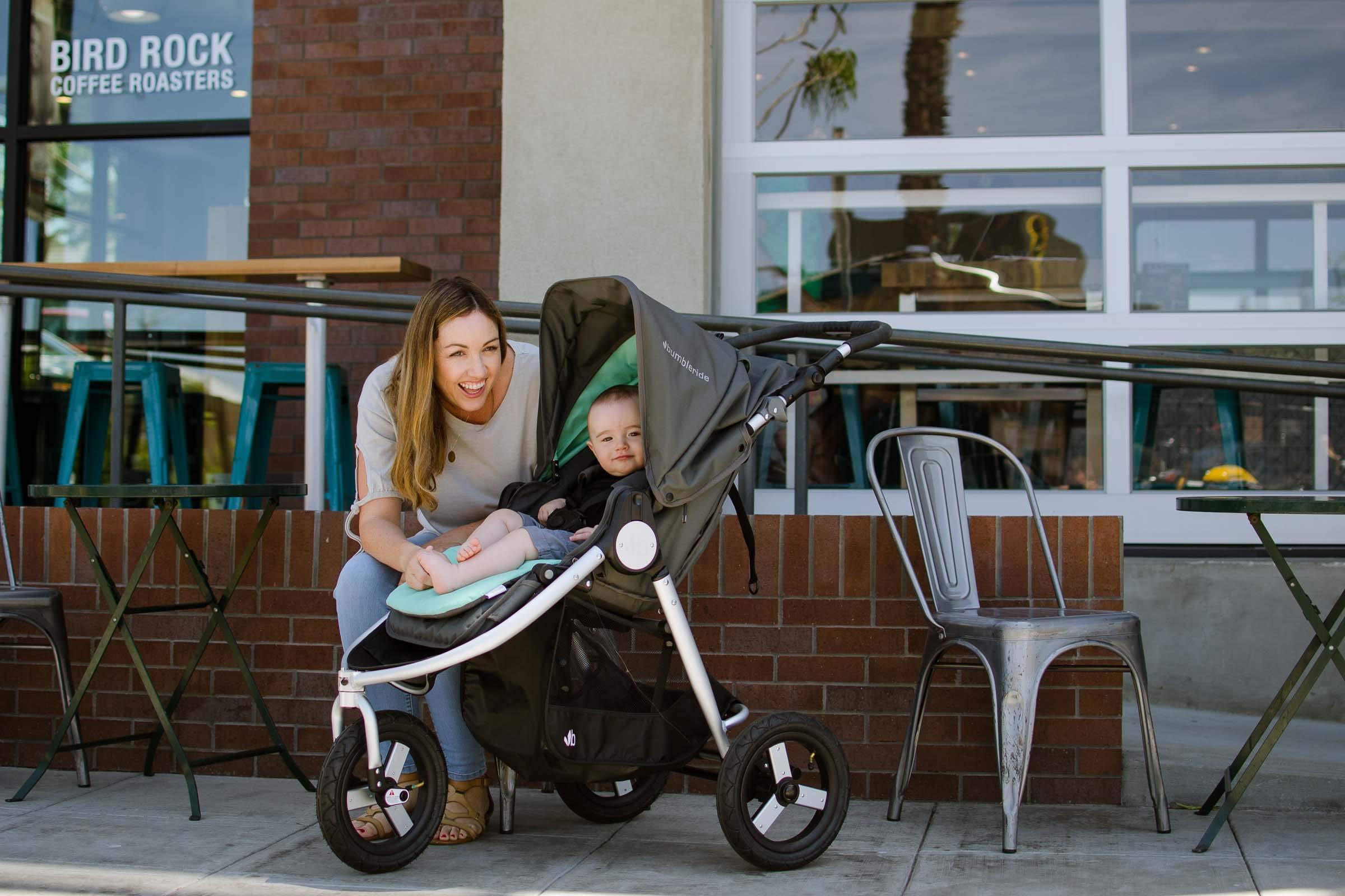 Bumbleride Stroller Reversible Seat Liner, Dawn Grey Mint by Bumbleride (Image #6)