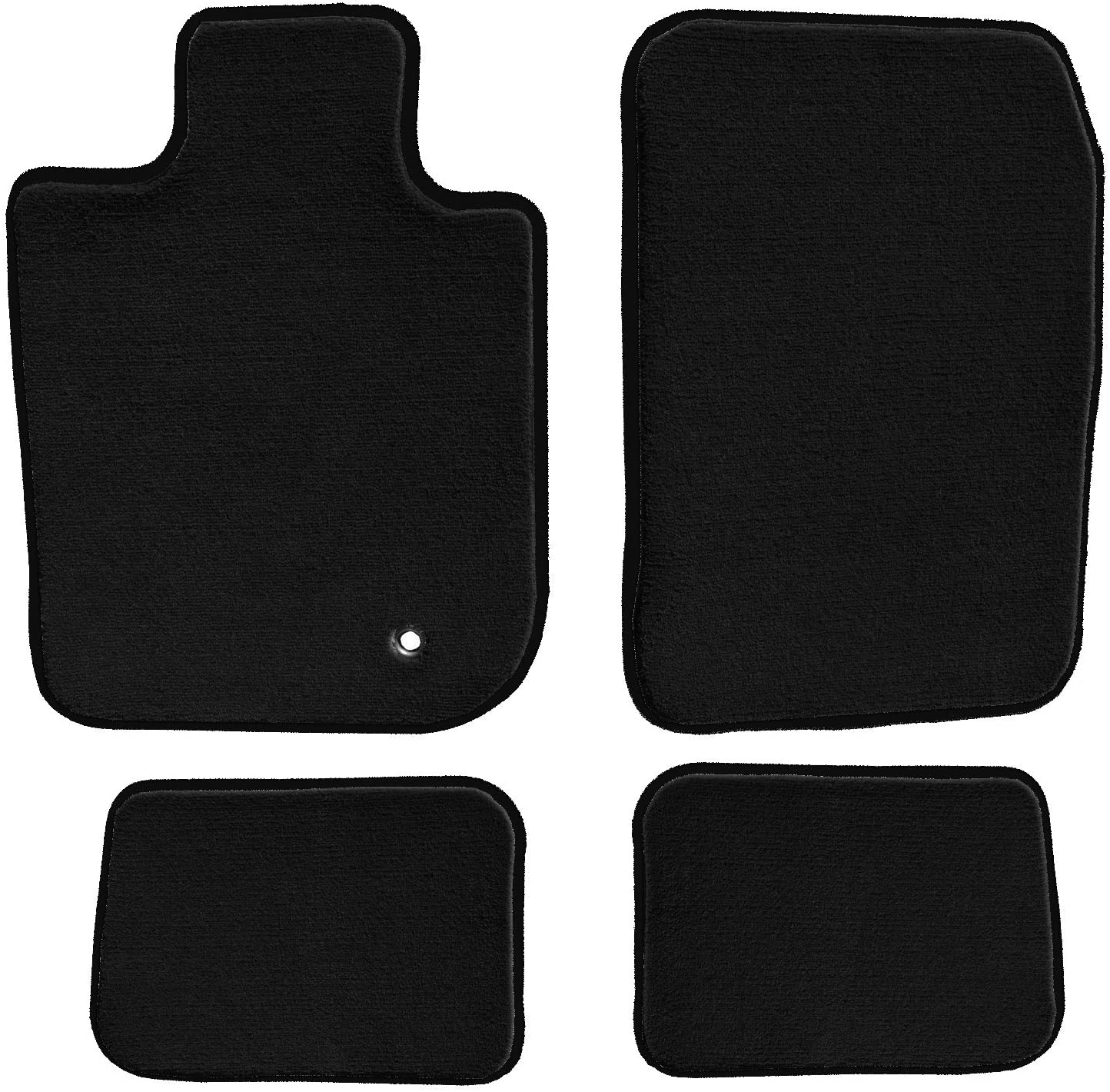 2006 Passenger /& Rear Floor Mats GGBAILEY Ford Freestyle 2005 2007 Black Loop Driver
