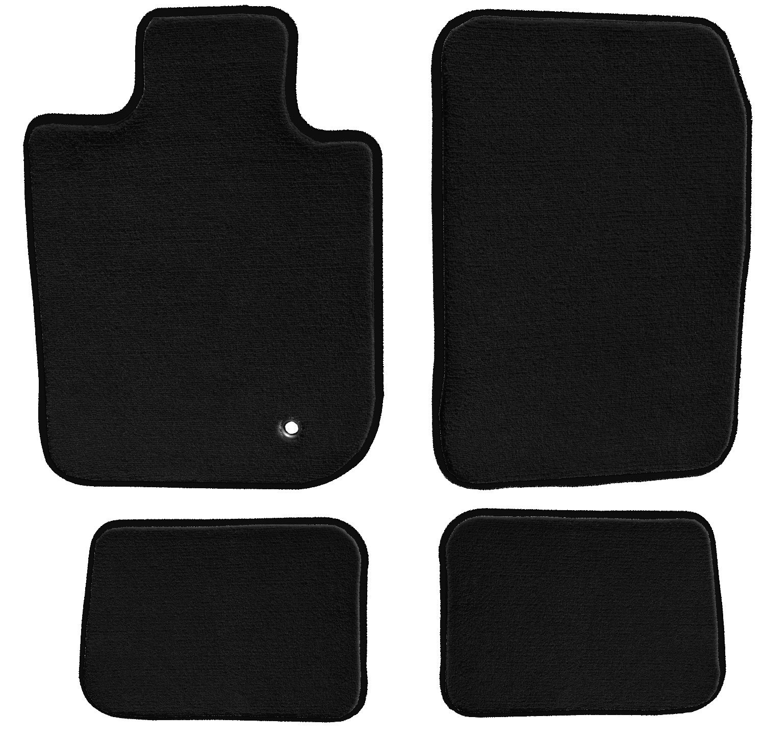 1999 GGBAILEY D4096B-S1A-BK-LP Custom Fit Automotive Carpet Floor Mats for 1997 1998 2000 Mercury Tracer Sedan Black Loop Driver Passenger /& Rear