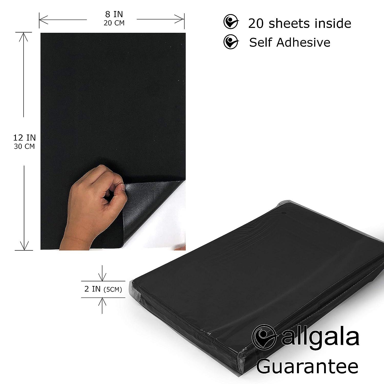 Allgala 20 Pack Self-Adhesive EVA Foam Paper 8x12 Inch Sheets-Fuchsia-CF85412