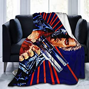 The Terminator Ultra Soft Micro Fleece Blanket Throw Blanket Lightweight Soft and Warm for Men Women Kids Couch and Bed Home decor60 x50