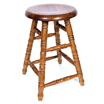 Sensational Aw Furniture Solid Medium Oak Backless Saddle Swivel Bar Stool 30 Inches Squirreltailoven Fun Painted Chair Ideas Images Squirreltailovenorg