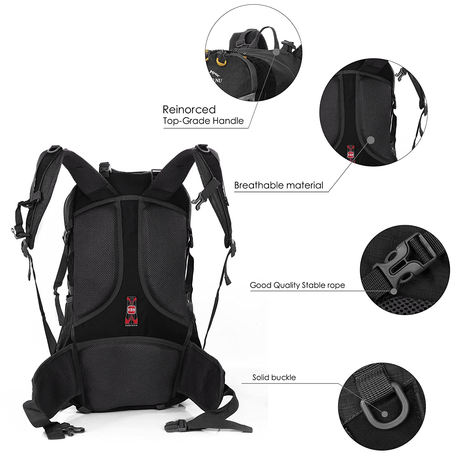 Amazon.com : Mooedcoe 65L Waterproof Hiking Daypack Outdoor Travel Camping Backpack for Men (Black) : Sports & Outdoors