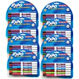 Expo Low Odor Dry Erase Pen Style Markers, 12 Colored Markers (86603) Case of 8 Packs