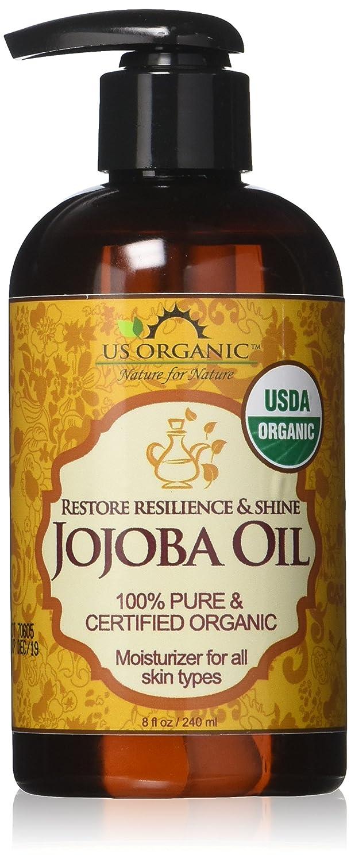 #1 Organic Jojoba Oil _ Certified Organic by USDA,100% Pure & Natural _ Cold Pressed Virgin, Unrefined _ Amber Glass Bottle with Glass Eye Dropper for Easy Application _ US Organic _ 4 oz(120 ml) US Organic Group Corp JOOL021 JOOL041 JOOL081