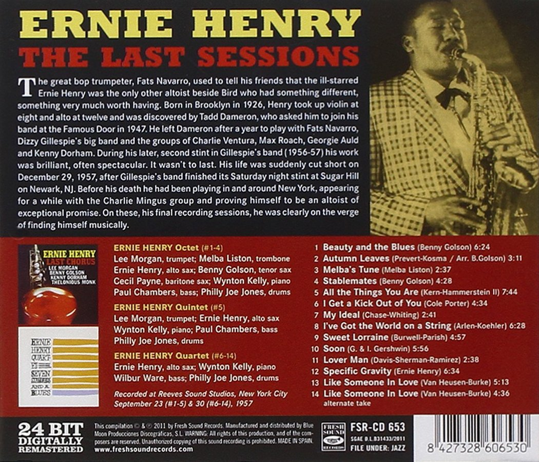 Ernie Henry - The Last Sessions (2 LPs On 1 CD) - Amazon.com Music