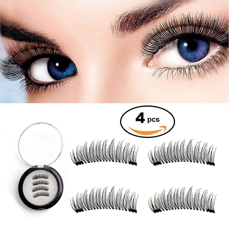 New Magnetic False Eyelashes Dual Magnetic Lashes No Glue Ultra Thin 3D Fiber Re