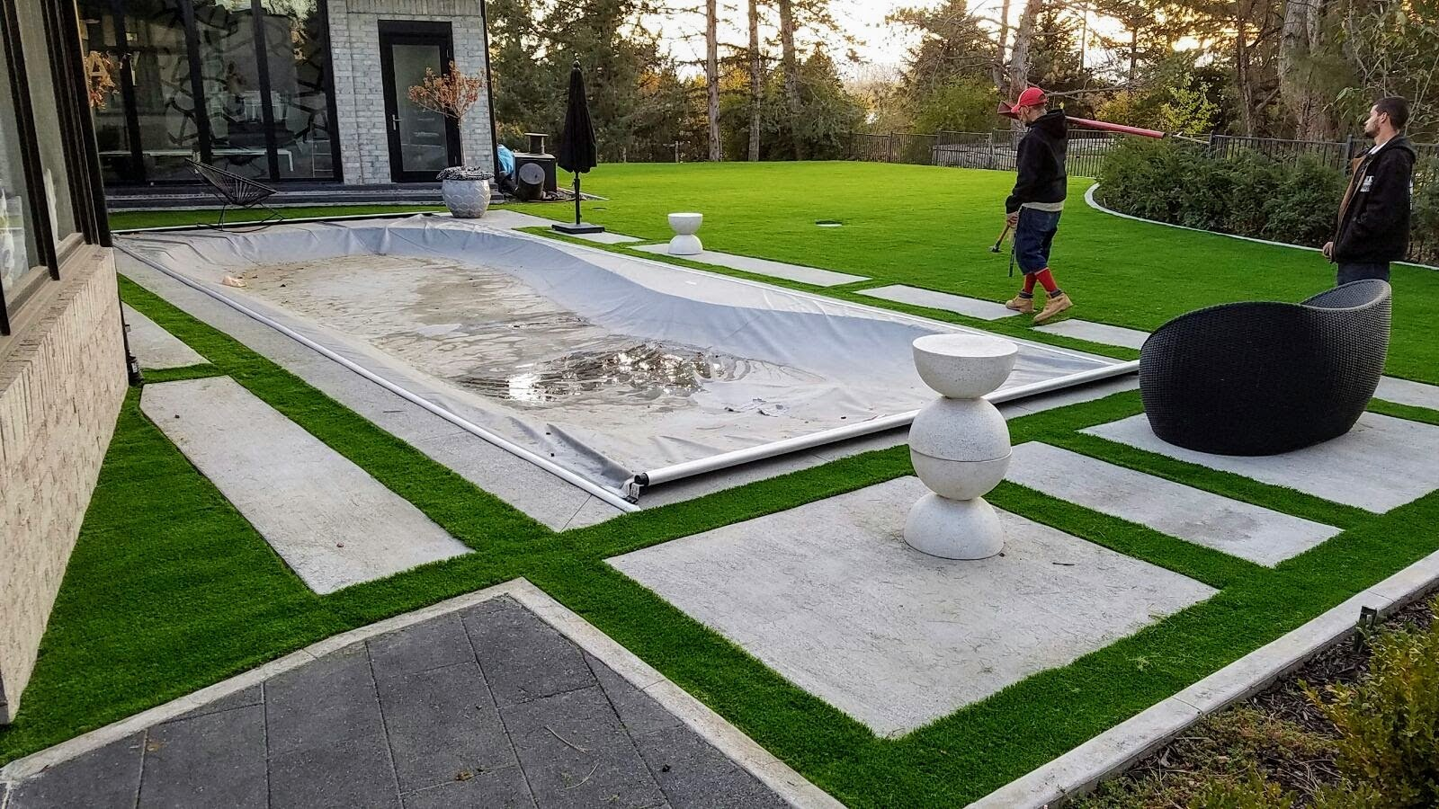All Season Prime Synthetic Grass - Artificial Turf - Drainage Holes, 2'' blades Great for Sunny Climates (10' x 15') by Turf Pros Solution (Image #6)