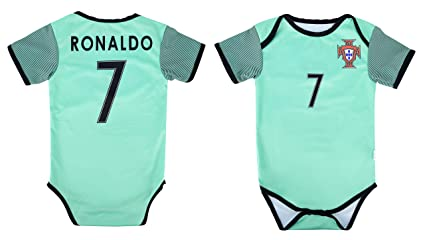 fead27fac World Cup Baby Cristiano Ronaldo #7 Portugal Soccer Jersey Baby Infant and Toddler  Onesie Romper