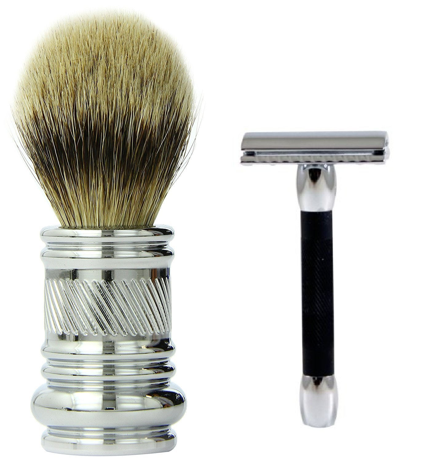 MGS Bundle Merkur-Razor Shaving Brush Chrome & More buying choices for Merkur 30C Safety Chrome/Black Razor