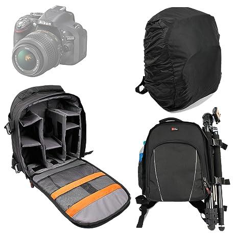 Duragadget - Funda mochila para cámaras de fotos Nikon D5000, D5100, D3100, D600