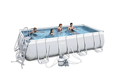 Bestway Power Steel 56390 - Piscina (Piscina con Anillo Hinchable, Rectangular, 13177 L