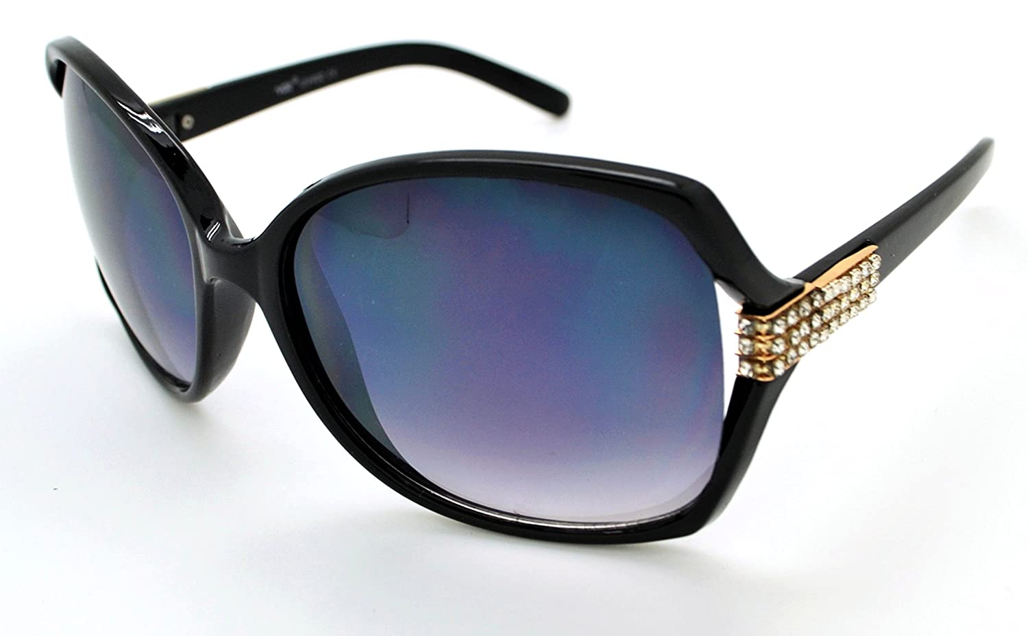 4d9bf4348a4 VOX Trendy Classic High Quality Womens Hot Fashion Sunglasses w FREE  Microfiber Pouch - Black Gold Frame - Smoke Lens  Amazon.co.uk  Clothing