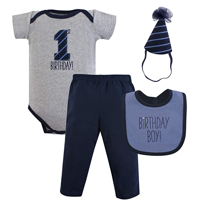 448ceb1b4 Amazon.com  Hudson Baby First Birthday Outfit Gift Set