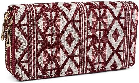 b546d7f4a3 styleBREAKER portamonete con motivo a rombi in stile etnico, chiusura con  cerniera a 360 gradi