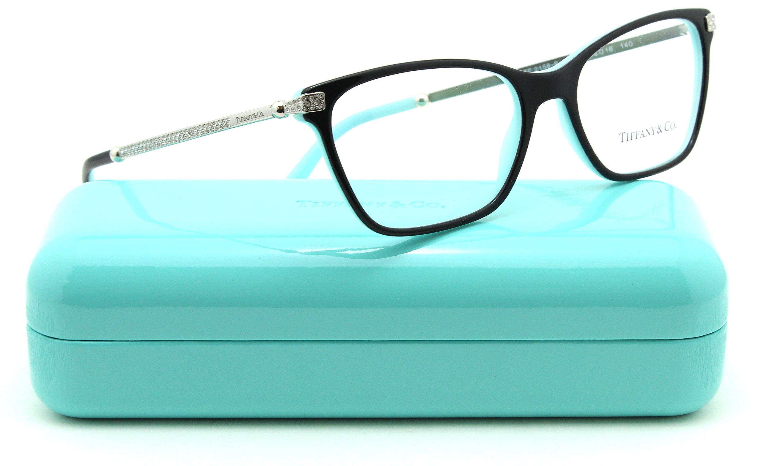 Tiffany & Co. TF 2158-B Women Butterfly Eyeglasses RX - able Prescription Frame (Black Frame 8055, 52)