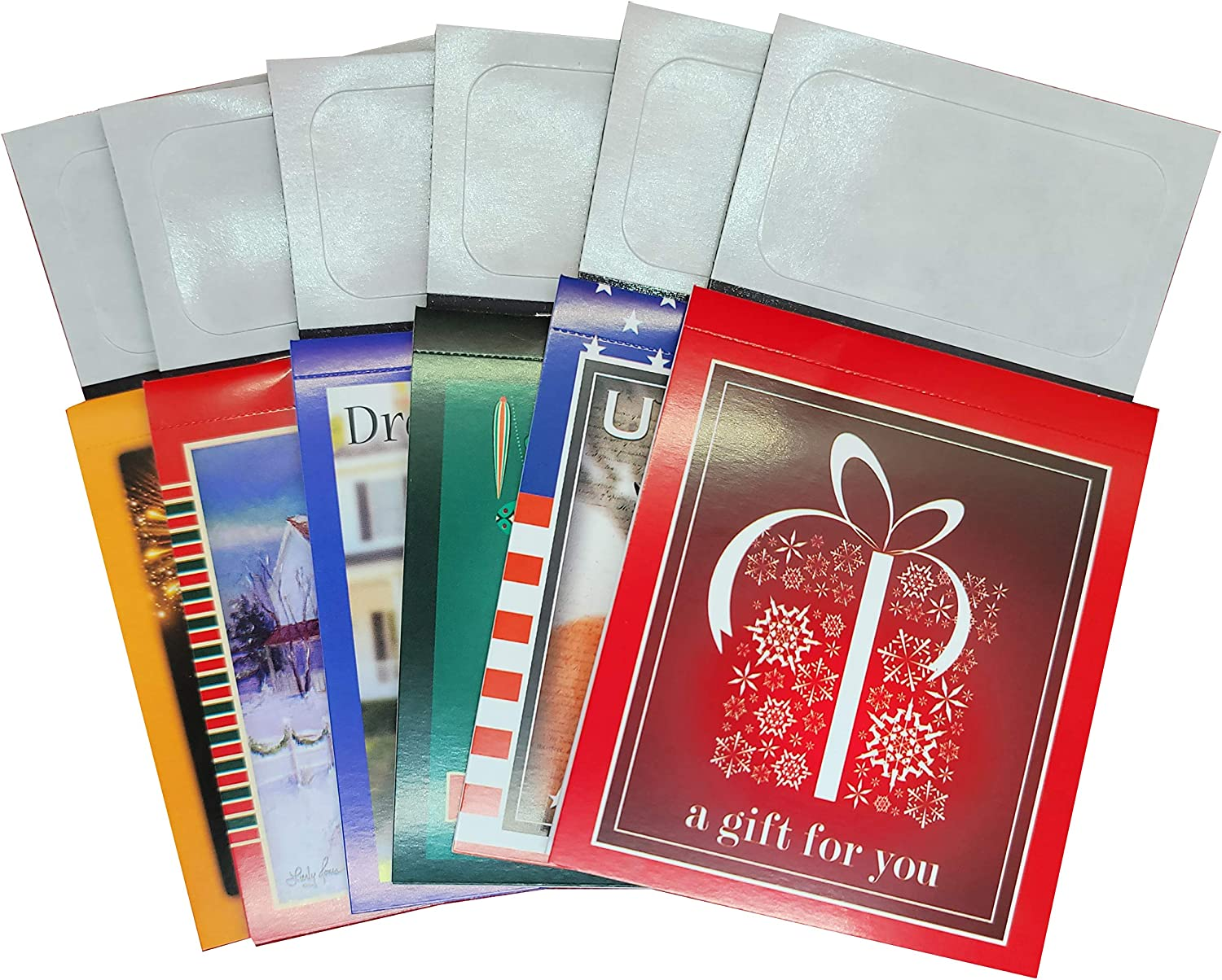 25 Pack Magnetic 12 Month Tear Off Calendars Business Card Peel and Stick (2021) (Mulcolor-P)