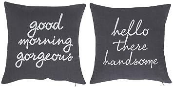 Amazon.com: DecorHouzz fundas de almohada hola apuesto ...