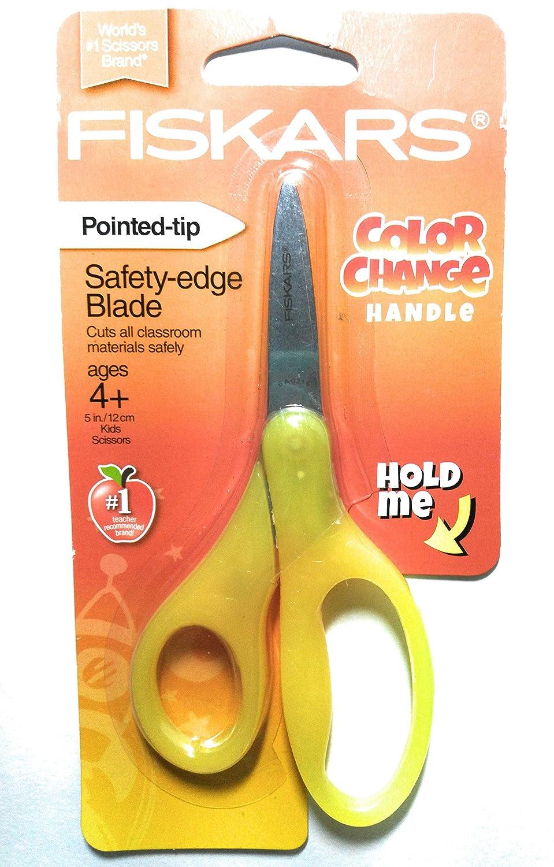 """5"""" / 12 cm Safety Edge Blades Color Change Handles Scissors Assorted Colors"""