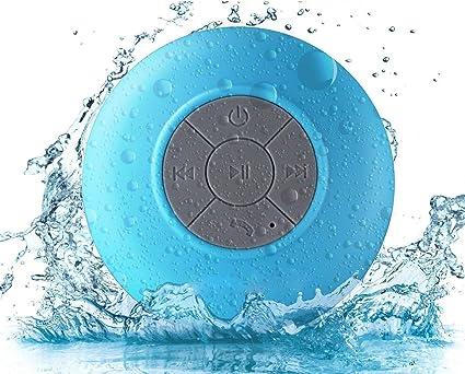 Mini Bluetooth Waterproof Speaker portable with Mic Volume Control Blue