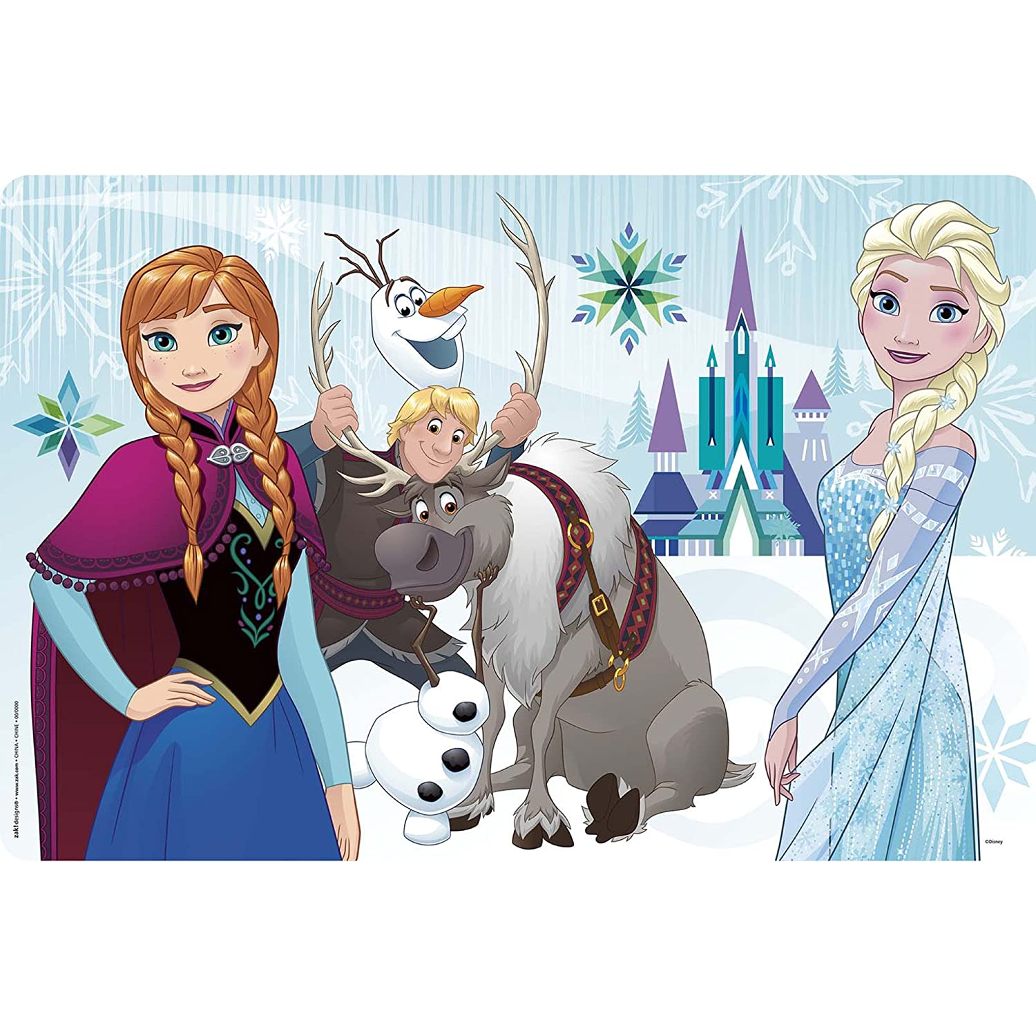 Zak Designs zak!snak Holds 4 oz. Snack and 10 oz. Drink, Anna & Elsa FZNN-S110