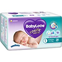 BABYLOVE Cosifit BabyLove Newborn Nappies Up to 5kg (28 pack x 4), Size 1
